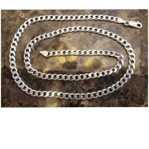 "20"" Sterling Silver Italian Chain"
